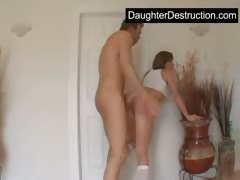 Young teen daughter abuse
