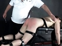 Hellpain whipping and feet spanking of punished