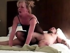 Mature Blonde Woman Getting Creampied