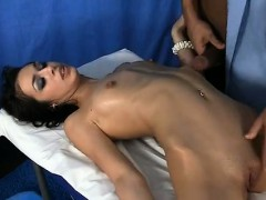 Sexy massage with hot unbelievable brunette